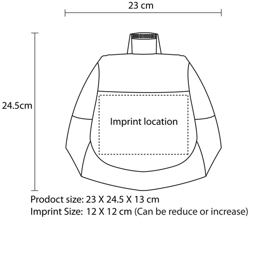 Reflective Lunch Bag with Side Pocket Imprint Image