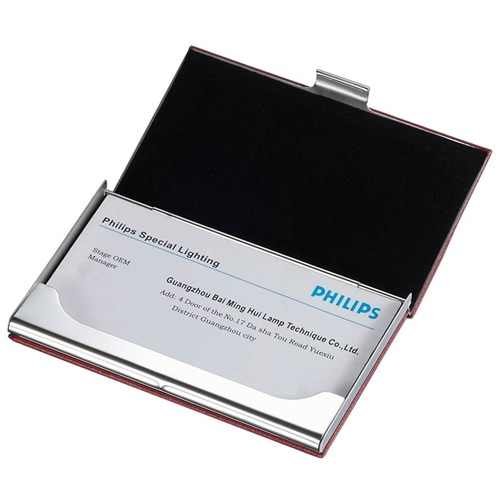 Executive Leather Business Card Case Image 1