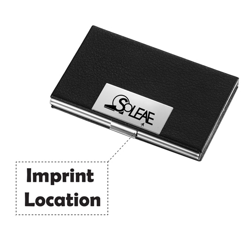 Executive Leather Business Card Case Imprint Image