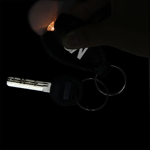 Leatherette Oval Keychain Light Image 4