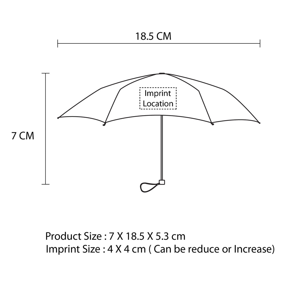 Deluxe Portable Folding Umbrella Imprint Image