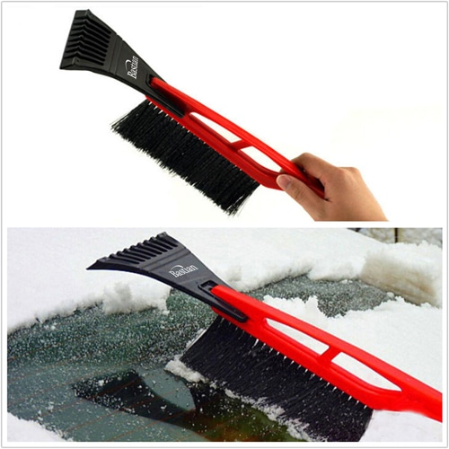 Deluxe Long Handled Car Ice Scraper Image 1