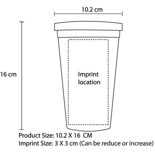 450ML Acrylic Double Wall Cup