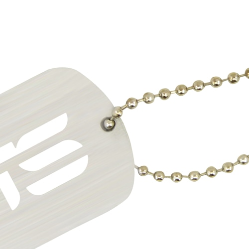 Aluminum Dog Tag With Beaded Chain Image 4