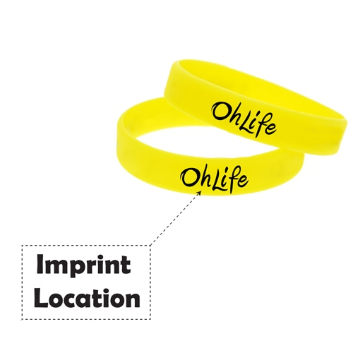 Awareness Silicone Wristband Imprint Image