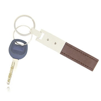 Classic Leather Metal Keychain