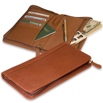 Calfskin Zip-Around Document Holder
