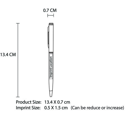 Slim Twist Action Pen Imprint Image