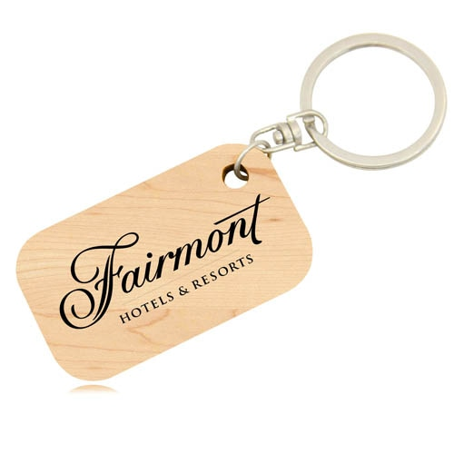 Eco Friendly Bamboo Keychain