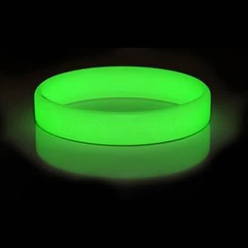 Glow In The Dark Silicone Wristband