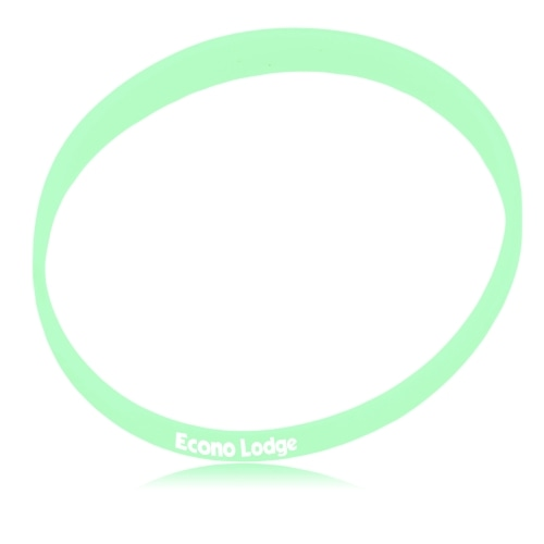 Glow In The Dark Silicone Wristband Image 2