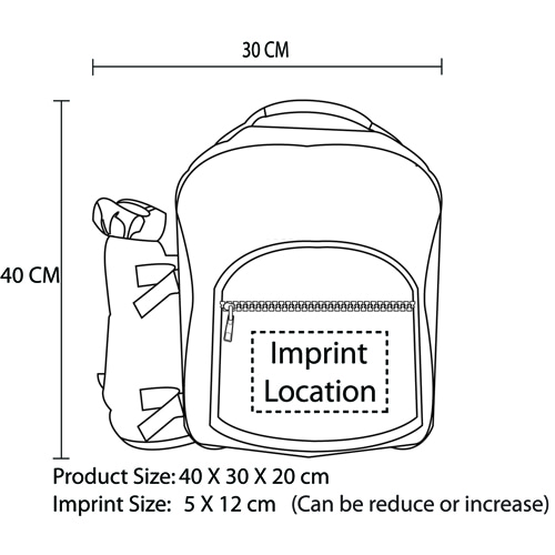 4 Person Picnic Backpack Imprint Image