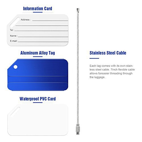 Ace Stainless Steel Luggage Tag Image 1