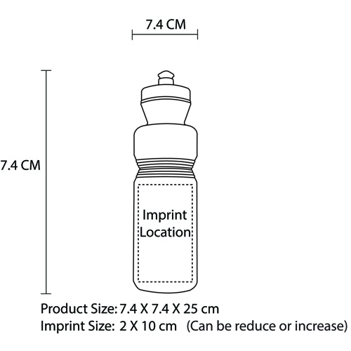 750ML LDPE Sports Bottle Imprint Image
