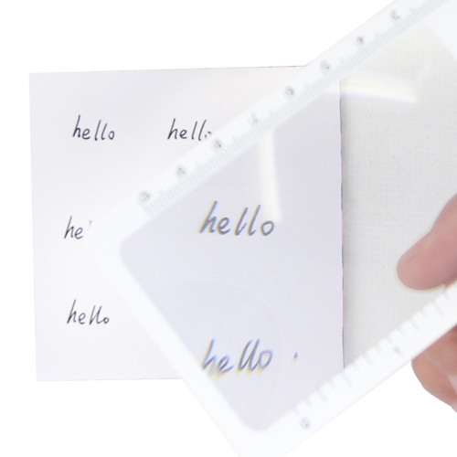 Customize Shape Bookmark Magnifier Ruler