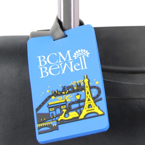 Customize Shaped 3D PVC Soft Luggage Tag