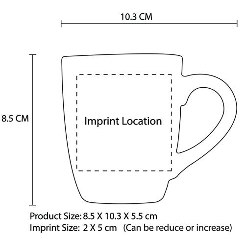 Deluxe Chic Ceramic Mug Imprint Image