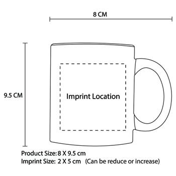 Ritzy Round Ceramic Mug