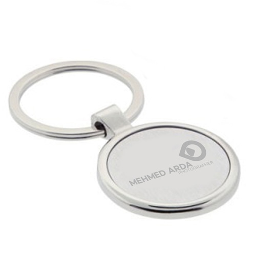 Circle EveryDay Metal Keychain Image 1