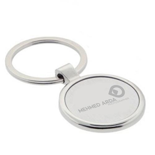 Circle EveryDay Metal Keychain