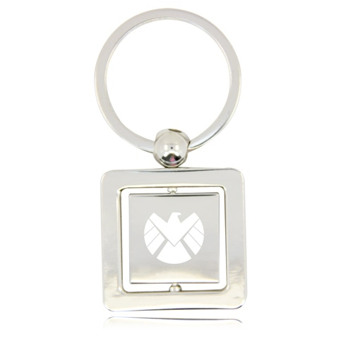 Rotatable Square Keychain