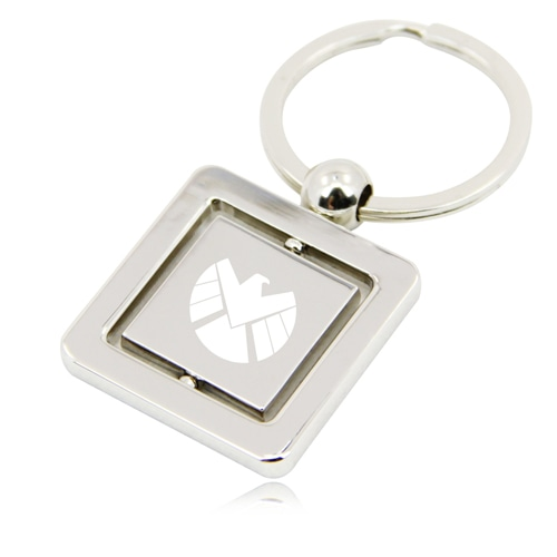 Rotatable Square Keychain Image 1