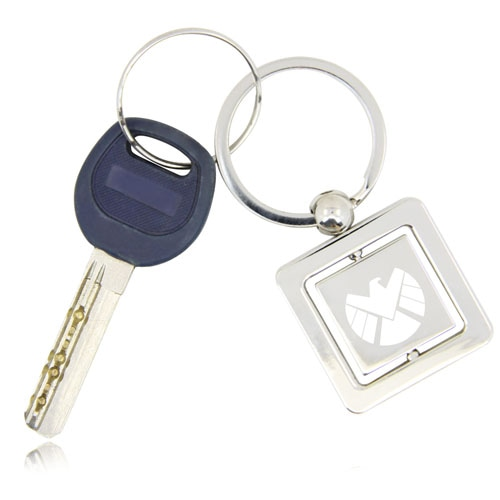 Rotatable Square Keychain Image 2