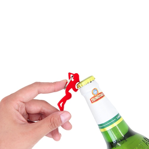 Sexy Girl Shaped Bottle Opener Keychain