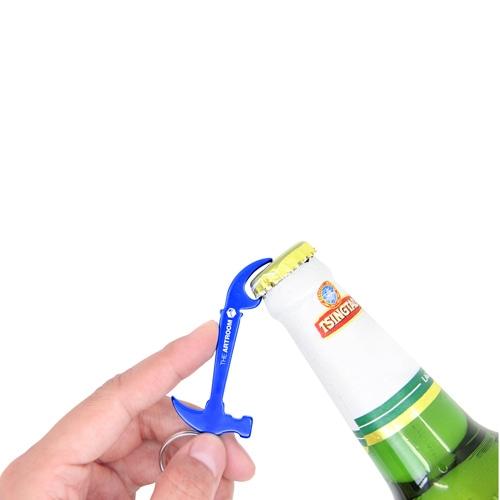 Aluminium Hammer Bottle Opener Keyring Image 3