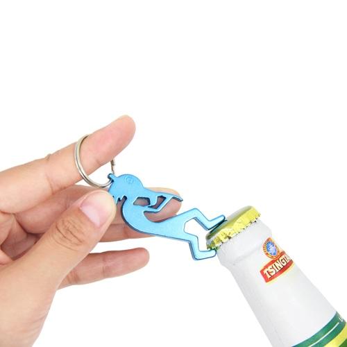 Kokopelli Aluminium Bottle Opener Keychain