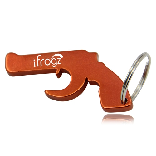 Pistol Bottle Opener Keychain