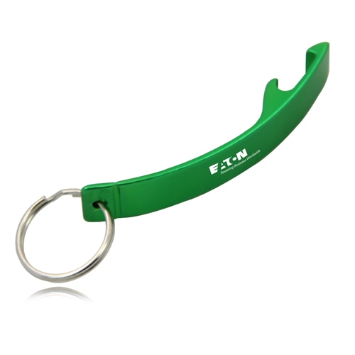 Curved Bottle Opener Keychain Image 1