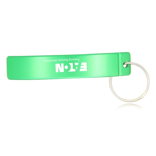 Curved Bottle Opener Keychain Image 2