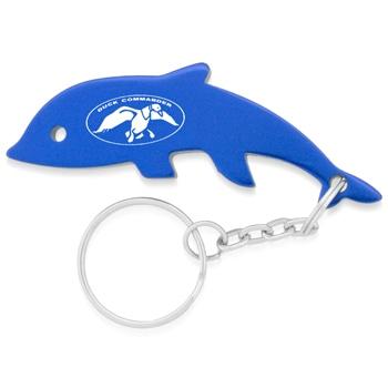 Dolphin Fish Bottle Opener Keychain