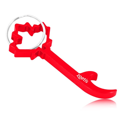 Maple Leaf Shape Bottle Opener Keychain