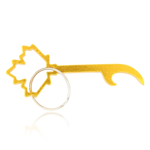 Maple Leaf Shape Bottle Opener Keychain