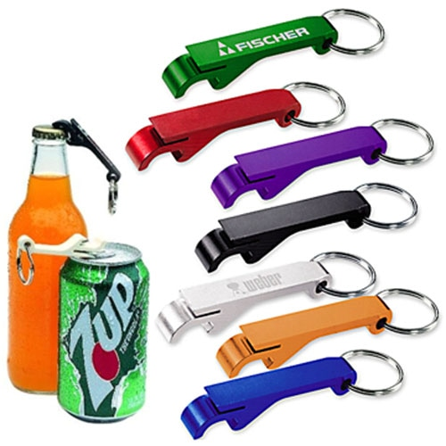 Aluminium Bottle And Can Opener Keyring