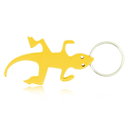 Lizard Shape Bottle Opener Keychain Image 1
