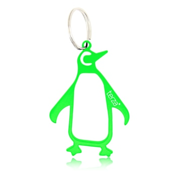 Penguin Shaped Opener with Keychain