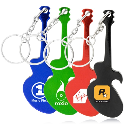 Guitar Bottle Opener With Keyring