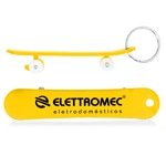 Skateboard Design Bottle Opener Keychain