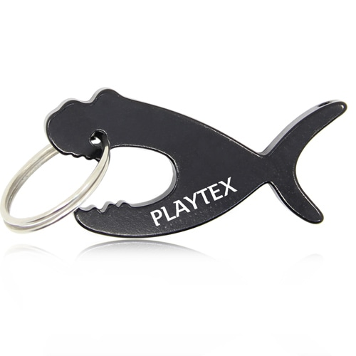 Piranha Fish Keychain With Opener Image 2