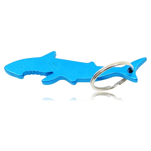 Shark Shaped Bottle Opener Keyring Image 1