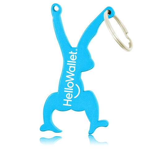 Hanging Monkey Bottle Opener Keyring
