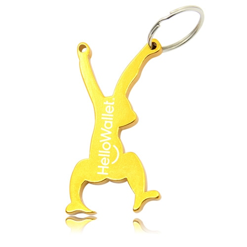Hanging Monkey Bottle Opener Keyring Image 2