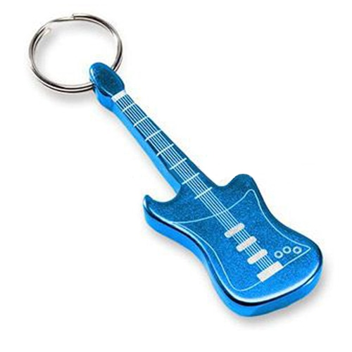 Electric Guitar Shape Opener Keychain