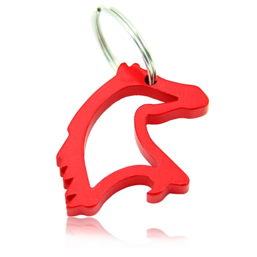 Horse Head Keyring With Opener