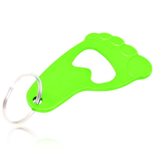 Foot Shape Bottle Opener Keyring