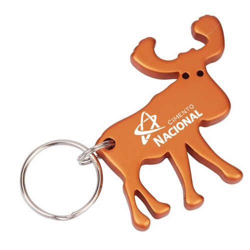 Moose Shape Keychain With Opener