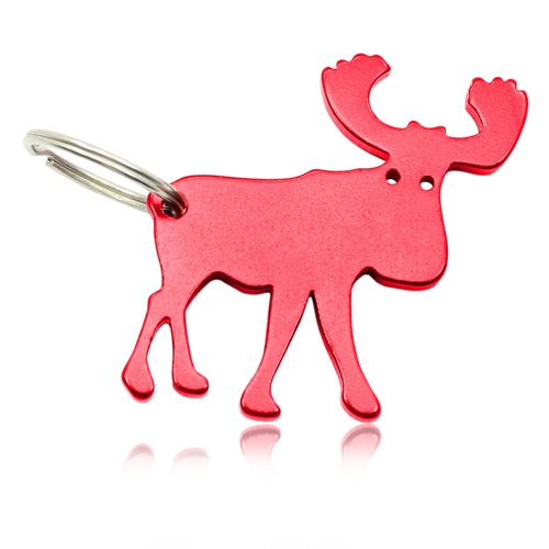 Moose Shape Keychain With Opener Image 1